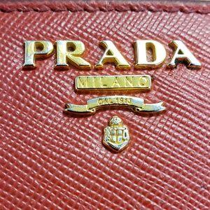 Authentic Prada medium saffiano wallet